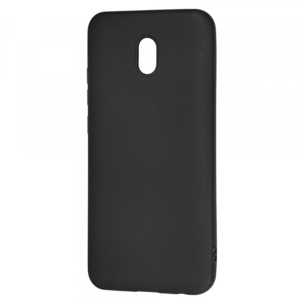Xiaomi Redmi 8A Бампер силиконовый матовый чёрный (вид 2)