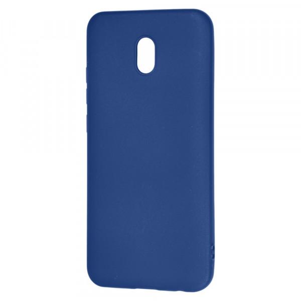 Xiaomi Redmi 8A Бампер силиконовый матовый синий (вид 2)