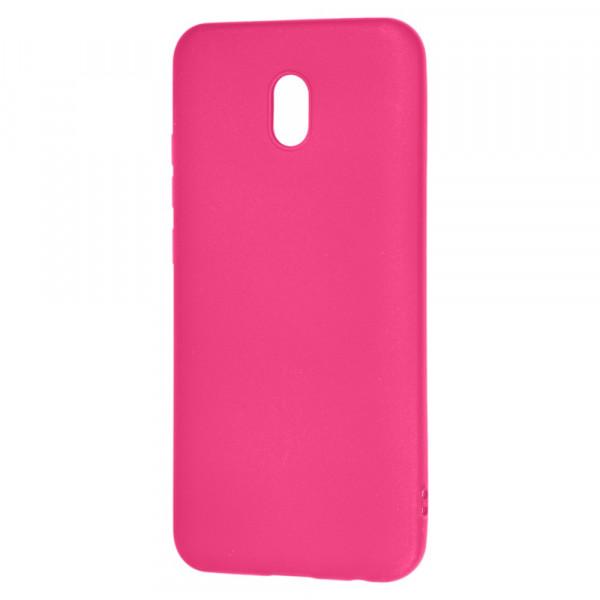 Xiaomi Redmi 8A Бампер силиконовый матовый розовый (вид 2)