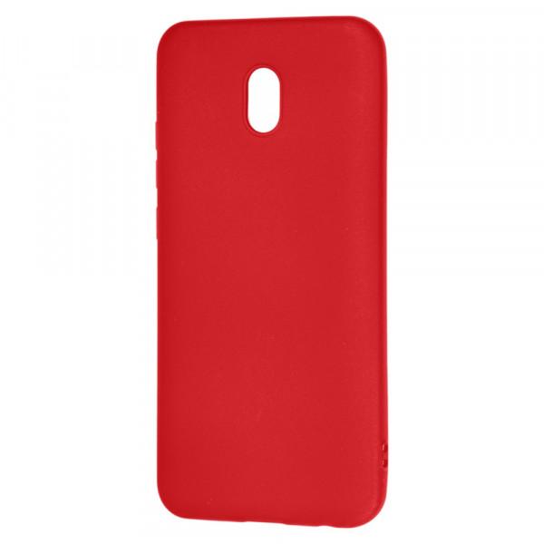 Xiaomi Redmi 8A Бампер силиконовый матовый красный (вид 2)
