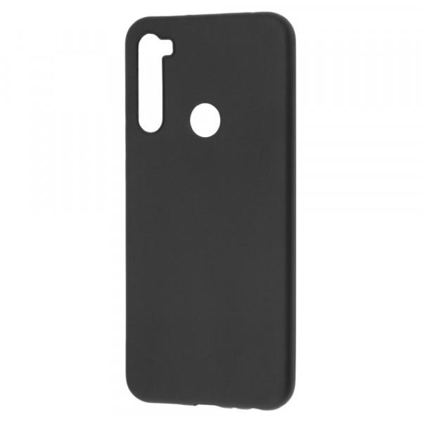 Xiaomi Redmi Note 8T Бампер силиконовый матовый чёрный (вид 2)