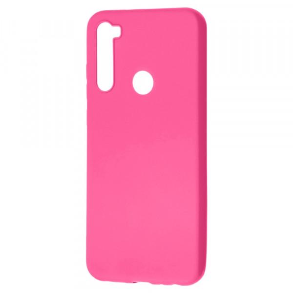 Xiaomi Redmi Note 8T Бампер силиконовый матовый розовый (вид 2)