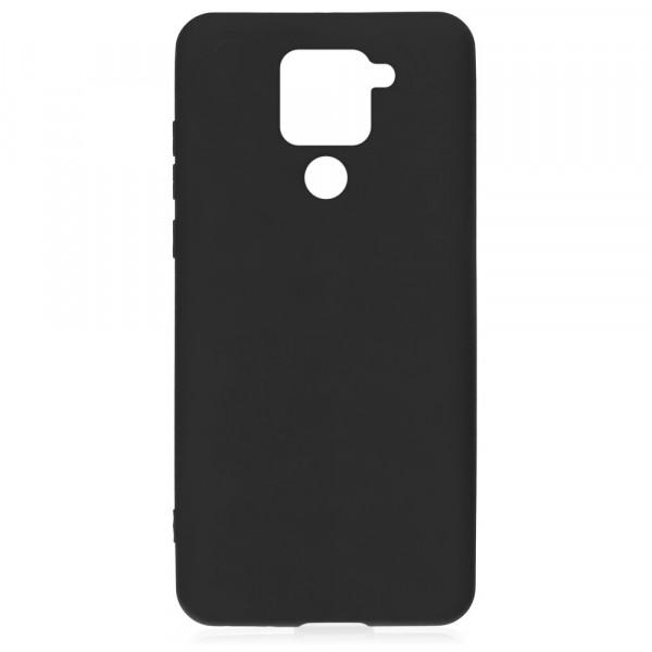 Xiaomi Redmi Note 9 Бампер силиконовый матовый чёрный