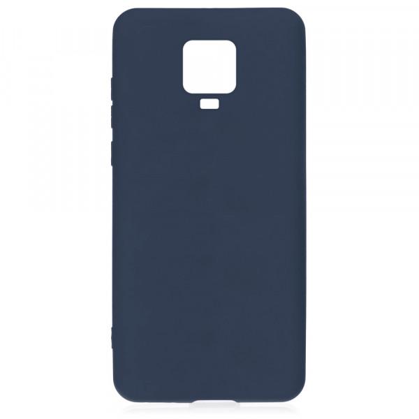 Xiaomi Redmi Note 9 Pro Бампер силиконовый матовый синий