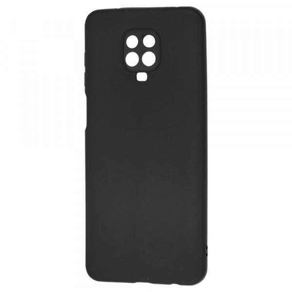 Xiaomi Redmi Note 9s Бампер силиконовый матовый чёрный (вид 2)
