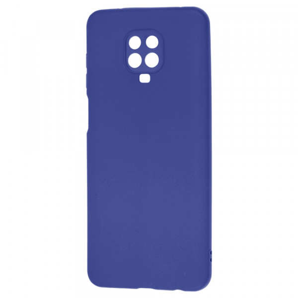 Xiaomi Redmi Note 9s Бампер силиконовый матовый синий (вид 2)