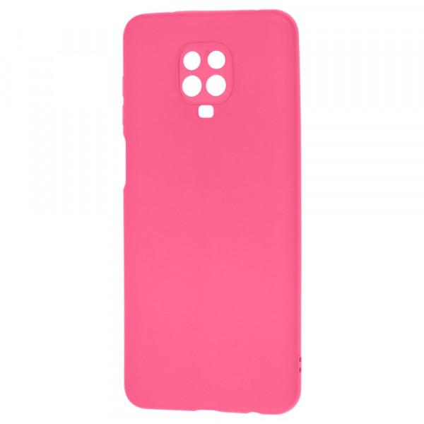 Xiaomi Redmi Note 9s Бампер силиконовый матовый розовый (вид 2)