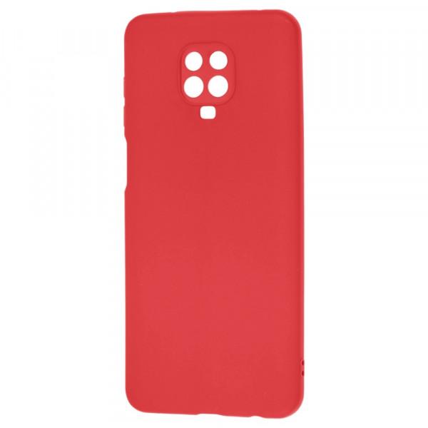 Xiaomi Redmi Note 9s Бампер силиконовый матовый красный (вид 2)