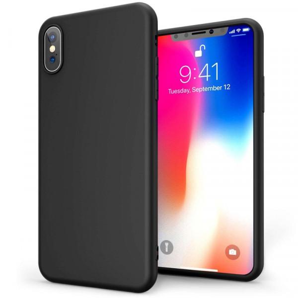 iPhone X/XS Бампер силиконовый матовый чёрный NEW