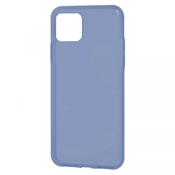 "iPhone 11 Pro Max (6.5"") Бампер силиконовый прозрачный, синий (блистер)"