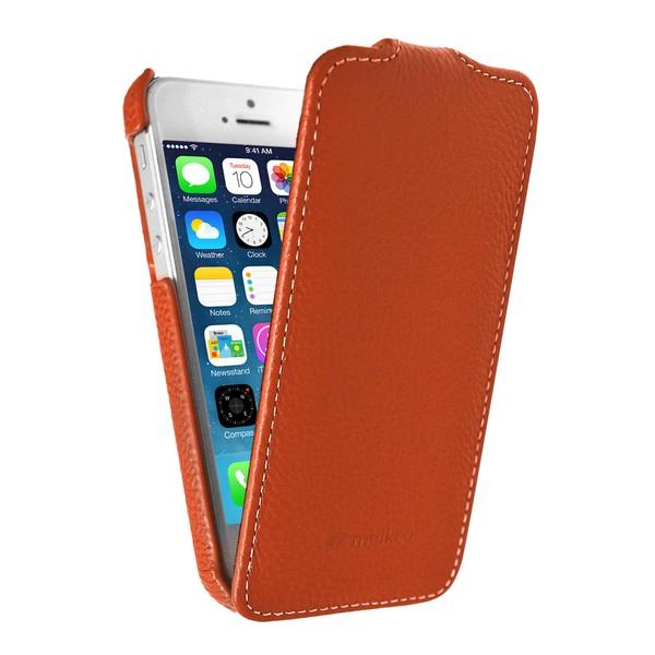 IPhone 5 Чехол, оранжевый кожа, Melkco SOTOMORE