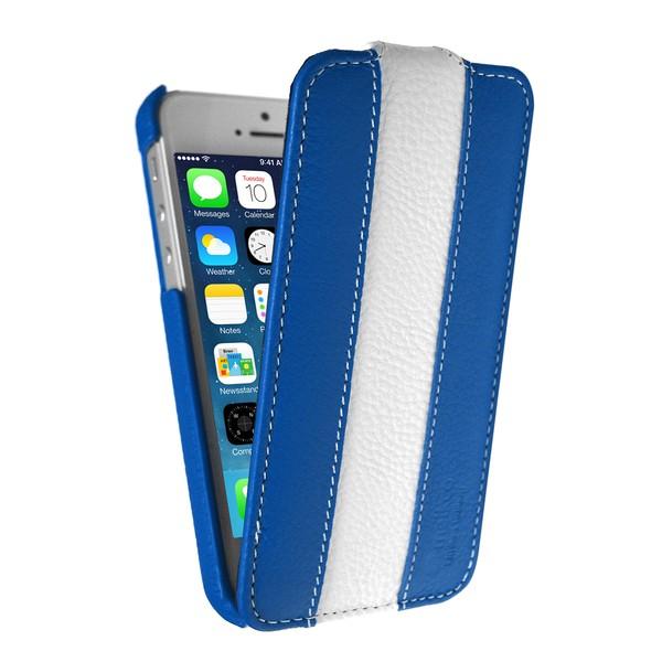 IPhone 5 Чехол, сине-белый кожа, Melkco SOTOMORE
