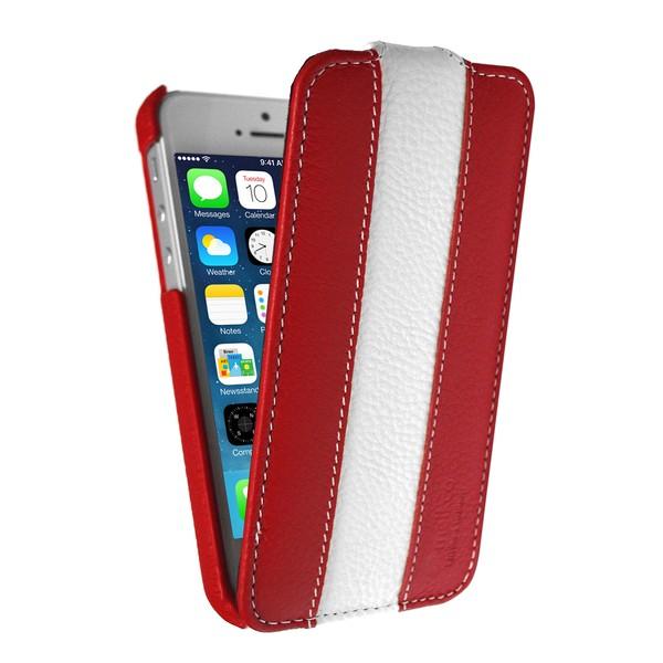 IPhone 5 Чехол, красный+белый кожа, Melkco SOTOMORE
