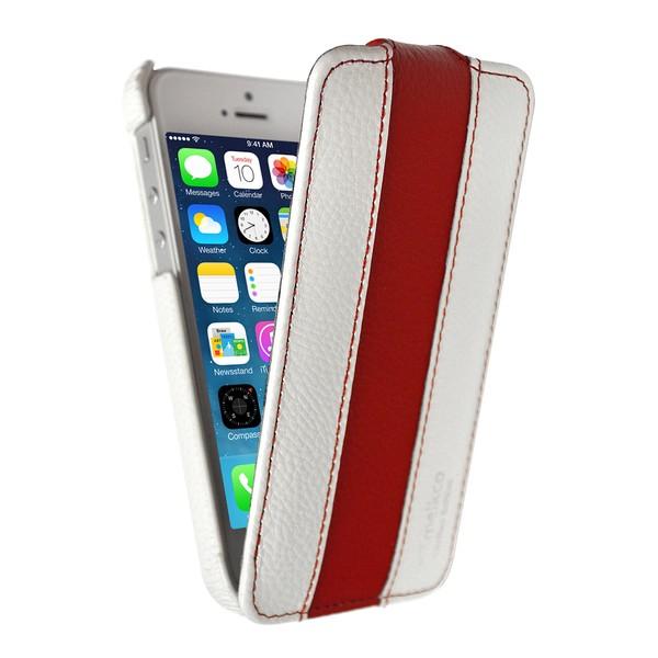 IPhone 5 Чехол, белый/красный кожа, Melkco SOTOMORE