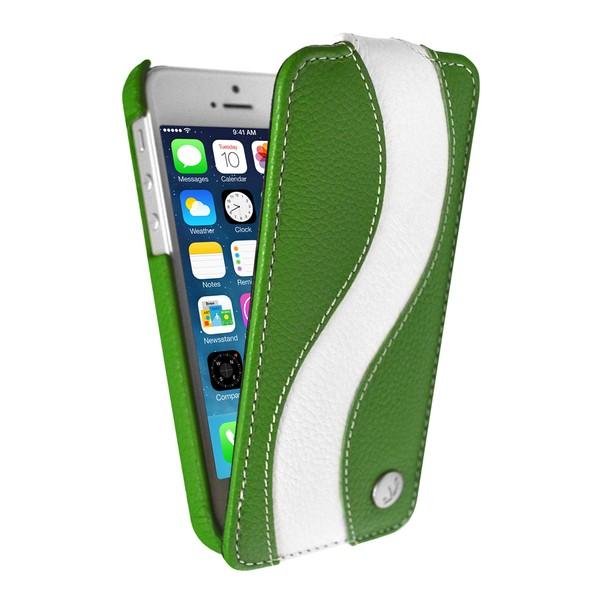 IPhone 5 Чехол, зелено-белый кожа, Melkco SOTOMORE