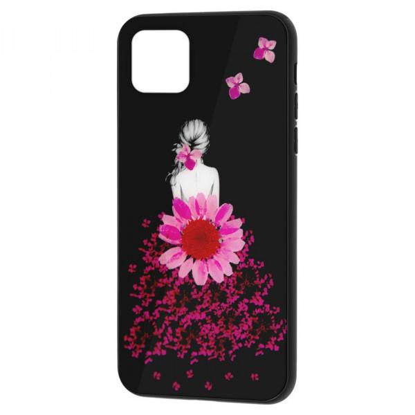 "iPhone 11 Pro (5.8"") Бампер силикон + стекло, Девушка в цветах"