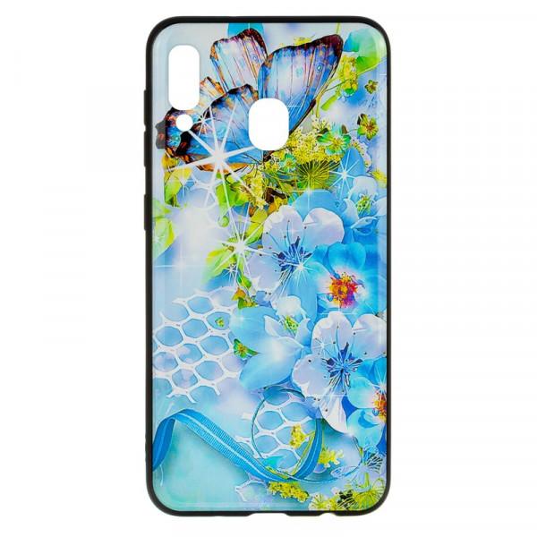 Samsung A40 Бампер силиконовый Цветы (вид 7)