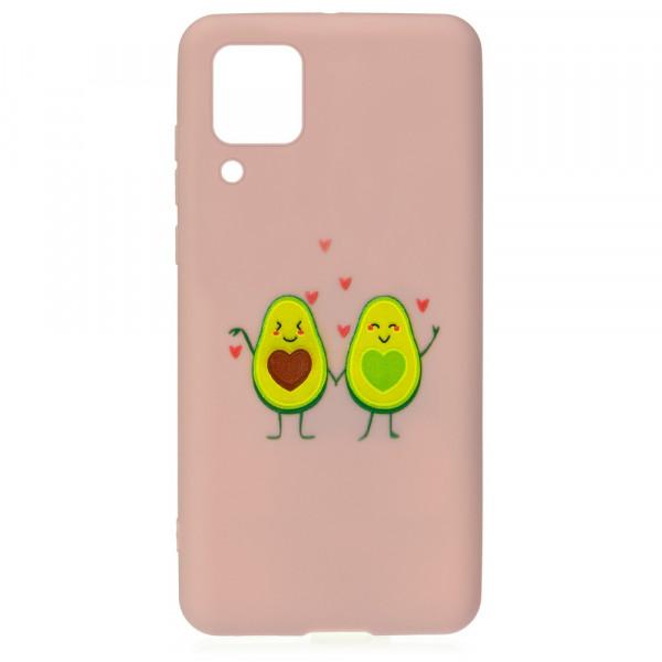 Huawei P40 Lite Бампер силиконовый Влюблённые авокадо, пудровый