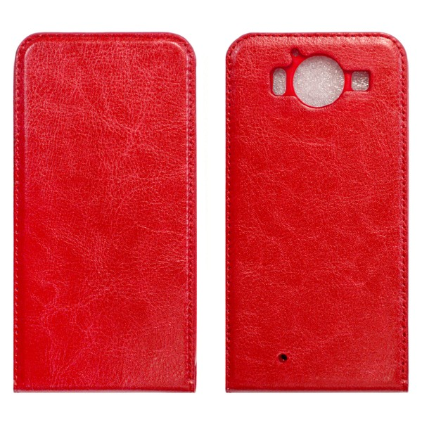 Microsoft Lumia 950 Флип-кейс красный