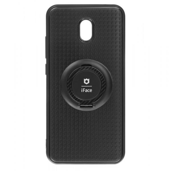 Xiaomi Redmi 8A Бампер силиконовый с кольцом iFace, чёрный