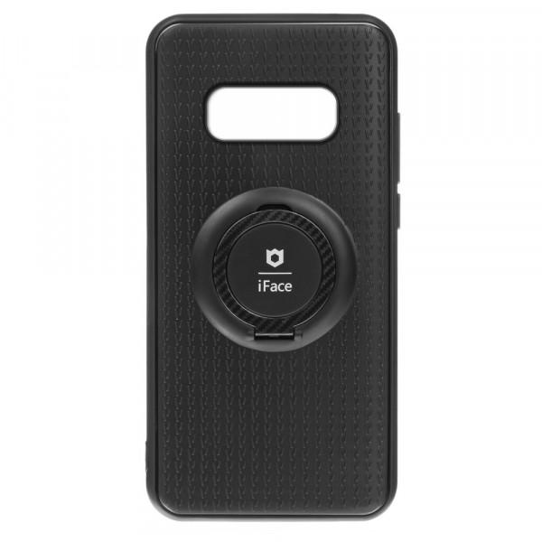 Samsung S10e Бампер силиконовый с кольцом iFace, чёрный