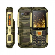 Мобильный телефон BQ BQ-2430 Tank Power Камуфляж+Золото