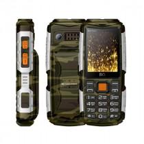 Мобильный телефон BQ BQ-2430 Tank Power Камуфляж+Серебро