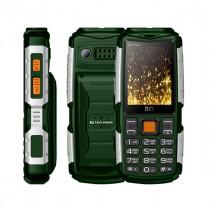 Мобильный телефон BQ BQ-2430 Tank Power Зелёный+Серебро
