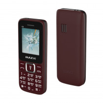 Мобильный телефон Maxvi C3i wine red