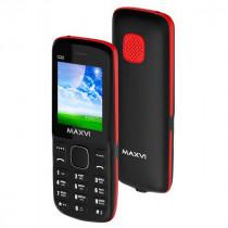 Мобильный телефон Maxvi C22 black-red