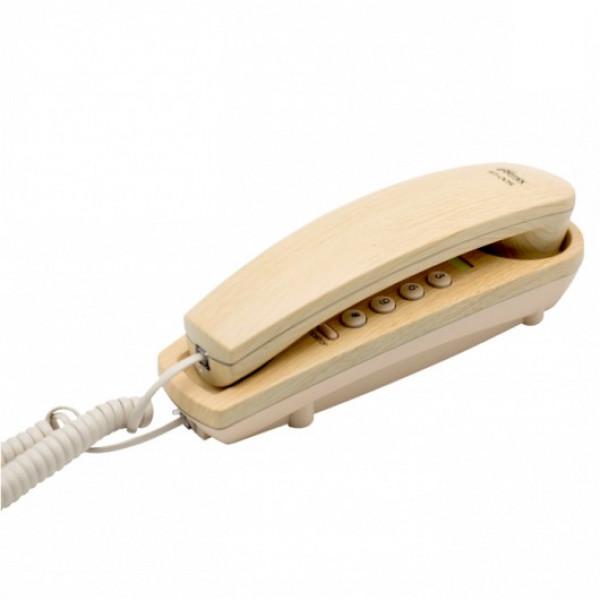 Ritmix RT-005 Проводной телефонный аппарат без дисплея  (настольный/настенный), светлое дерево