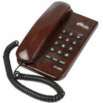 Ritmix RT-320 Проводной телефонный аппарат без дисплея  (настольный/настенный), мраморный кофе
