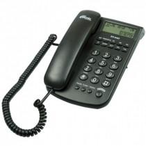 Ritmix RT-440 Проводной телефонный аппарат с LCDдисплеем, FSK/DTMF (настольный/настенный), чёрный