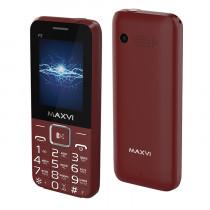 Мобильный телефон Maxvi P2 wine-red