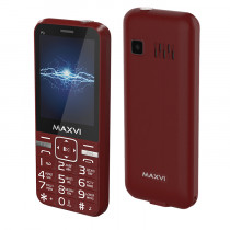 Мобильный телефон Maxvi P3 wine-red