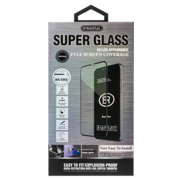 Стекло защитное Huawei Y6p 5D SUPER GLASS, чёрное