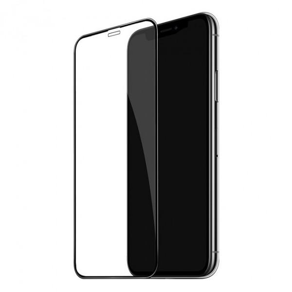 "Стекло защитное iPhone 11 Pro Max (6.5"") / XS Max 3D Oulemei (в тех.упаковке), чёрное"