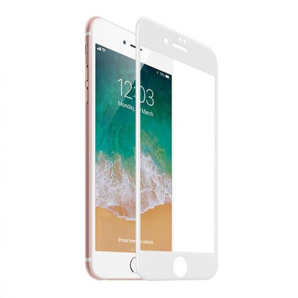 Стекло защитное iPhone  6 / 6S / 7 / 8  9D (в тех.упаковке), белое