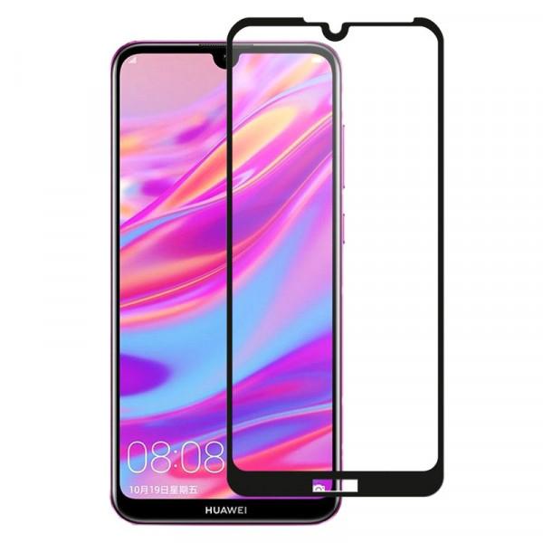 Стекло защитное Huawei Honor  8A / Y6 (2019) 3D Oulemei (в тех.упаковке), чёрное