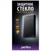 Стекло защитное iPhone  6 Plus / 6S Plus PERFEO 0.26мм 3D с силиконовыми краями, чёрное, PF_4397