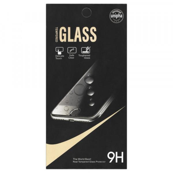 Стекло защитное iPhone  5 / 5S / SE GLASS Unipha (чёрн. уп.)