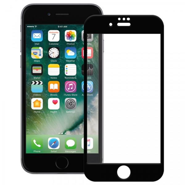 Стекло защитное iPhone  6 / 6S / 7 / 8  9D (в тех.упаковке), чёрное