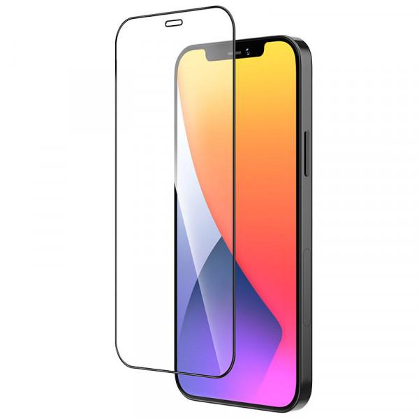 """Стекло защитное iPhone 12 (5.4"""") 9D (в тех.упаковке), чёрное"""
