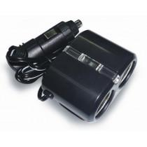 AVS CS204 Разветвитель прикуривателя 12/24 (на 2 выхода) светодиод.подсв.