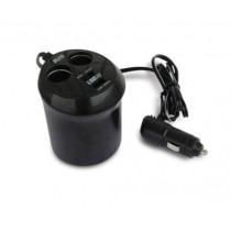 AVS CS214U Разветвитель прикуривателя 12/24 (на 2 выхода+USB)