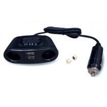 AVS CS220U Разветвитель прикуривателя 12/24 (на 2 выхода+2 USB)