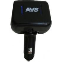 AVS CS205 Разветвитель прикуривателя 12/24 (на 2 выхода) светодиод.подсв.