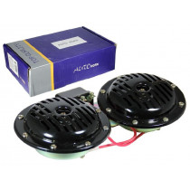Сигнал звуковой воздушный электр. автомобильный 12В, 8А, 120дБ, 335/435Гц (2шт) с реле на кронштейне