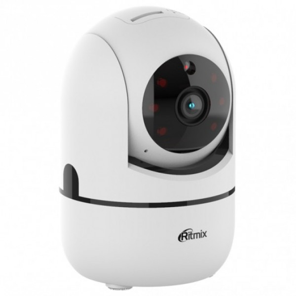 IP WI-FI Smart Camera Ritmix IPC-110, 720p (1Mp), PTZ, ночная съёмка, белая