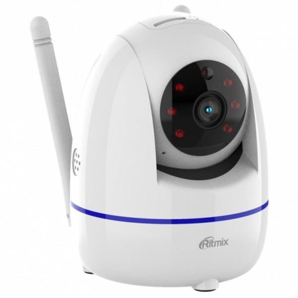 IP WI-FI Smart Camera Ritmix IPC-210, 1080p (2Mp), PTZ, ночная съёмка, белая